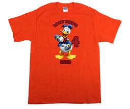 Donald Duck Personalized Orange Birthday Shirt - $16.99+