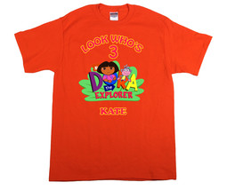 Dora the Explorer Personalized Orange Birthday Shirt - $16.99+
