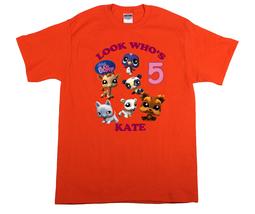 Littlest Pet Shop Personalized Orange Birthday Shirt - $16.99+