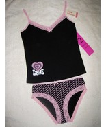 GIRLS 12 (M) - Little Princess - Hearts & Love Pink & Black CAMISOLE & P... - $16.00
