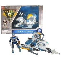 Bandai Year 1999 Xyber 9 New Dawn Series 4 Inch Tall Action Figure Vehic... - $24.99