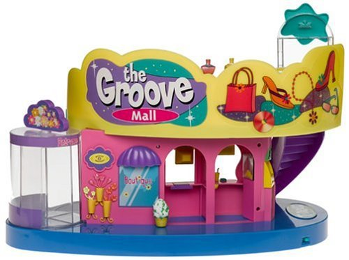 T NEEZ The GROOVE MALL Playset w 20+ LIGHTS and SOUNDS for TNeez or POLLY POCKET - $49.99