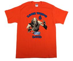 Star Wars General Grievous Personalized Orange Birthday Shirt - $16.99+