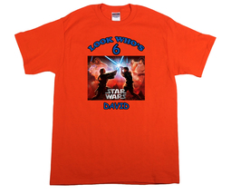 Star Wars Revenge of the Sith Personalized Orange Birthday Shirt - $16.99+
