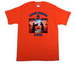 Star Wars Revenge of the Sith Personalized Orange Birthday Shirt - $16.99+