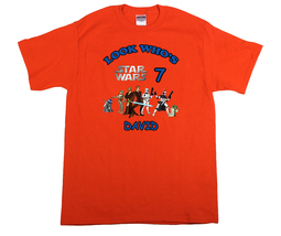 Star Wars Personalized Orange Birthday Shirt - $16.99+