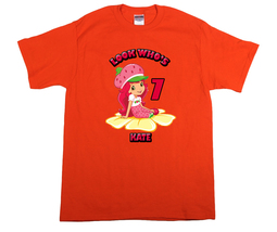 Strawberry Shortcake Personalized Orange Birthday Shirt - $16.99+