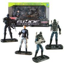 "Hasbro Year 2009 G.I. JOE Movie Series ""The Rise of Cobra"" Exclusive 4 P... - $49.99"