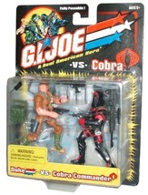 GI Joe vs Cobra Year 2001 Fully Poseable 2 Pack 4 Inch Tall Action Figur... - $49.99