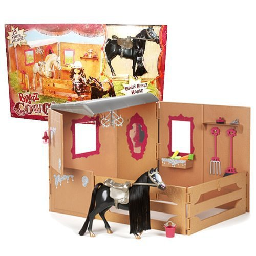 MGA Entertainment Bratz Cowgirlz Series Horse Stable Playset with Main Stable Un - $84.99