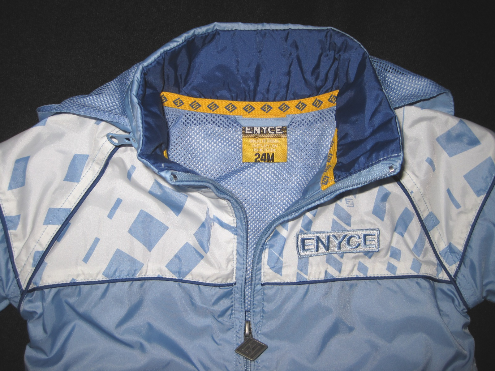 BOYS 24 MONTHS - Enyce - Blue Lined Zippered Hidden Hood Lightweight JACKET