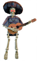 Skeleton Playing Guitar 40 Inches Halloween Prop Haunted House Scary Yar... - €55,27 EUR