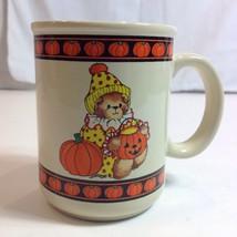 Lucy and Me 1985 Lucy Rigg Halloween Bear Pumpkin Coffee Mug Cup - $29.21