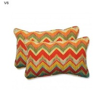Multicolor Accent Pillows Home Fashions Indoor Outdoor Set of 2 Throw Cu... - ₨3,799.46 INR