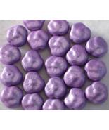 Vintage Lilac Color Glass Czech Flower Bead  21 - $2.00