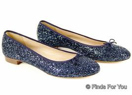 J Crew Kiki Glitter Ballet Flats Size 10 Style#... - $115.95