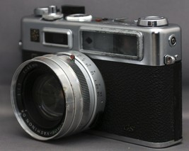 YASHICA G ELECTRO 35 Vintage Film Camera YASHINON f/1.7 45mm Lens Japan ... - $38.70