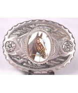 Horse Cameo Belt Buckle-Stamped Metal-Western Cowboy Country Rodeo-Vtg - $18.69