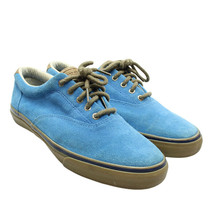 SPERRY TOPSIDER Striper Mens Size 12 Blue Suede Lace-up Sneakers Boat Shoes - $38.60