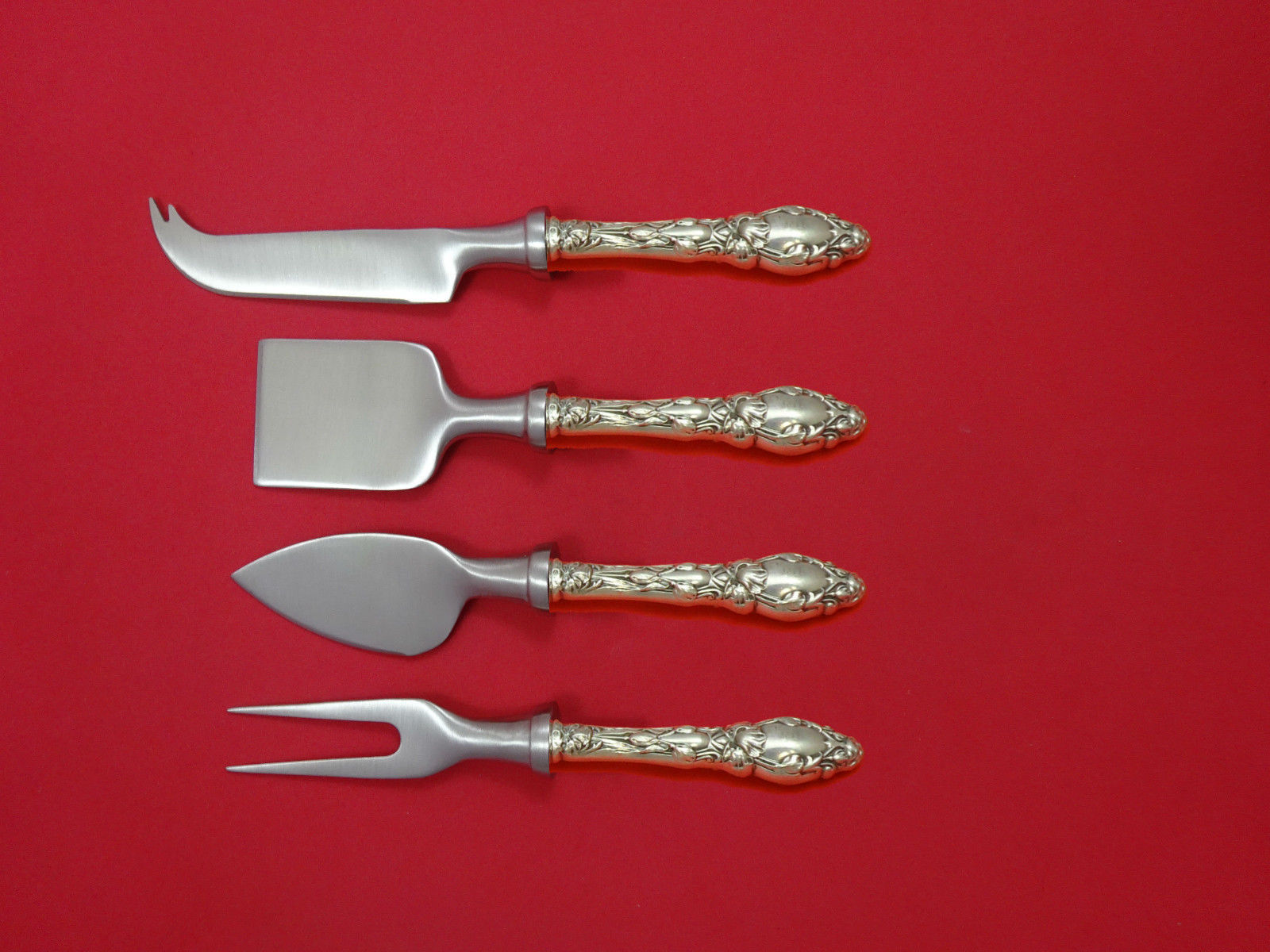Primary image for Virginiana by Gorham Sterling Silver Cheese Serving Set 4 Piece HHWS  Custom
