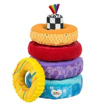 LAMAZE - Rainbow Stacking Rings Toy, Help Baby Develop Fine Motor Skills... - $23.99