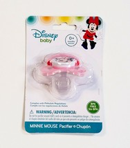Disney Baby Minnie Mouse Pacifier BPA Free 0+ Months Pink Red Silicone N... - $7.83