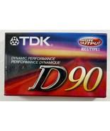 Sealed TDK Blank Cassette Tape High Output D90 - $6.92