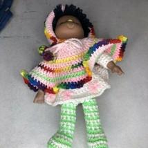 Vtg Handmade Crocheted Rubber Face Doll Strawberry Shortcake Orange Blos... - $24.52