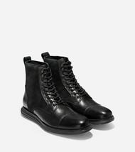COLE HAAN ORIGINALGRAND CAP TOE MEN'S BLACK LEATHER BOOTS Sz 8.5, #C29455 - $159.99