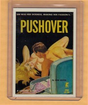 Pushover by John Dexter promo card book mark GGA pulp fiction sleaze novel - $2.24