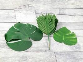 Tropical Palm Leaves Plastic Silk Fake Leaves Home Decor US - $14.01
