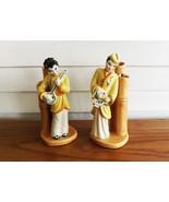 CAS Bamboo Asian Couple Bud Vases Ceramic Arts Studio (CAS) of Madison W... - $39.99