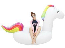 "Big Unicorn Inflatable Ride On Floats Pool Raft Swim Tube for Adults 81.5"" 207cm image 5"