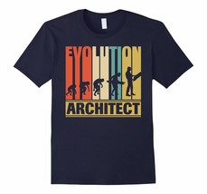 Funny Shirt -  Vintage Retro Evolution Of Architect. Funny Shirt Gifts Men - ₹1,434.51 INR+