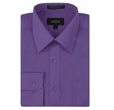 Omega Italy Men's Purple Dress Shirt Long Sleeve Slim Fit w/ Defect - 4XL
