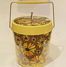 Yellow Daisy Ice Bucket West Bend Thermo Serv Vintage Mid-Century Modern... - $68.31