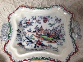 Antique, Ashworth Bros. England, Gaudy Blue Willow Serving Bowl 12.5inx9... - $128.20