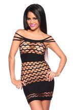 Negligé Club abito nero lingerie abbigliamento da discoteca biancheria sexy image 3