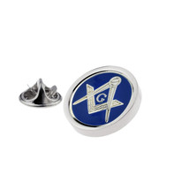 silver masonic with g Lapel Pin Badge / tie pin, Lapel Pin Badge gift boxed