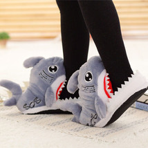 Shark Head Cotton Slippers/Slip-Resistant Three-Dimensional Plush Cotton... - $16.14