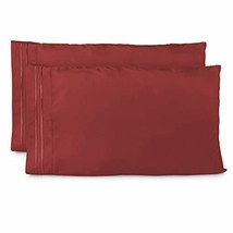 Cosy House Collection Pillowcases King Size - Burgundy Luxury Pillow Cas... - $23.47