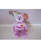 Ty Beanie Baby Birthday February Celebration Bear - $5.99