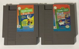 Lot of 2 Sesame Street NES Games ABC & 123 (Nintendo Entertainment Syste... - $9.89