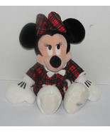 Disney Plush Minnie Mouse Flannel Nightgown & Bunny Slippers Stuffed To... - $24.98