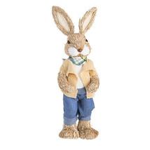 Darice Easter Tabletop Sisal Bunny Rabbit Boy: 17 inches w - $37.99