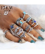 17KM® 13 pcs/set Retro Flower Infinite Knuckle Rings For Women Vintage G... - $4.48+