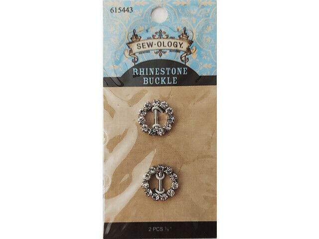 Hobby Lobby Sew-Ology Rhinestone Buckles, 2 Pack #615443