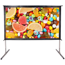"120"" 16:9 Movie Projector Screen 6K Ultra HD Portable Foldaway Front Pro... - $159.99"