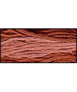 Tennessee Red Clay (CCT-131) 6 strand hand-dyed cotton floss Classic Col... - $2.15