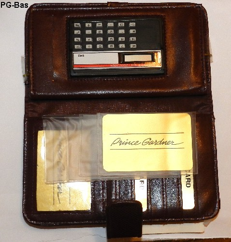 Princess Gardner Tabstyle Credit Card Calculator Clutch NWT